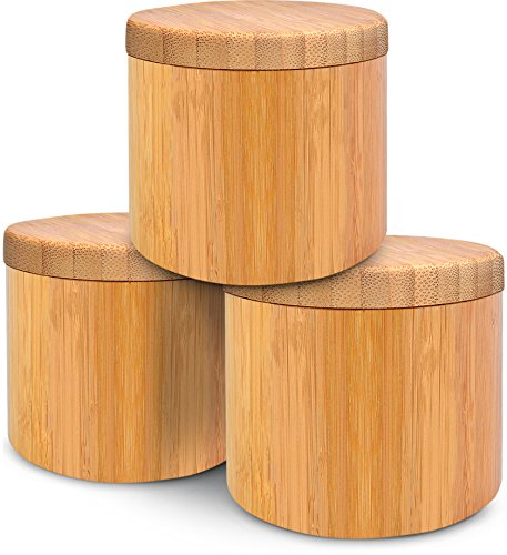 Bamboo Jar (Small 6oz salt jar - 3 pack), Salt Box Set