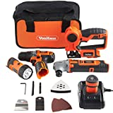 VonHaus 4-Piece 12V Cordless Power Tools combi Kit Set: 2-Speed...