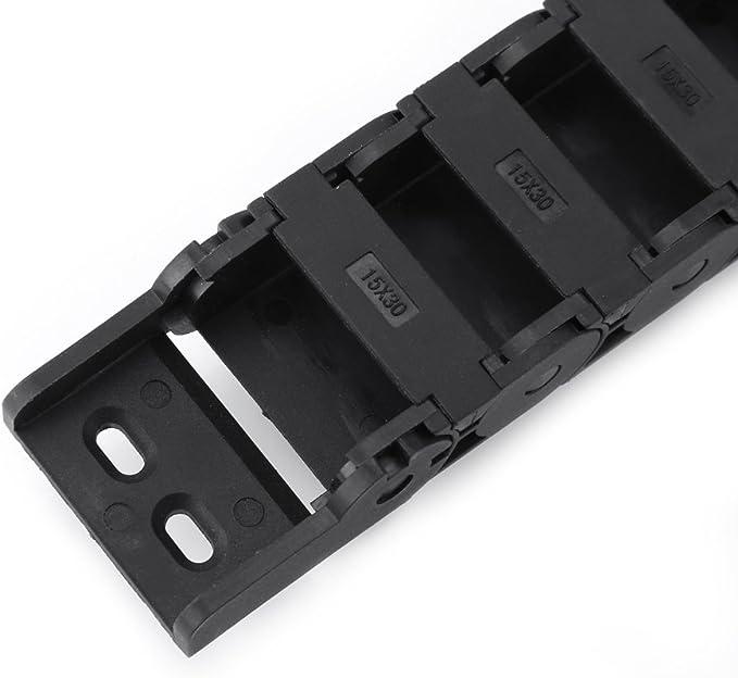15mm x 30mm Schwarz Nylon Kabel Zugkette 1M L/änge Drahttr/äger f/ür CNC Gravur Router Maschine Zubeh/ör