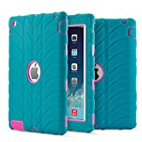iPad 2 Case - iPad 3 Case - iPad 4 Case - Fisel Tire Design Three Layer Rugged Armor Defensive Shockproof Hybrid Anti-Scratch Bumper High Impact Resistant Full-Body Protective Case for iPad 2 3 4