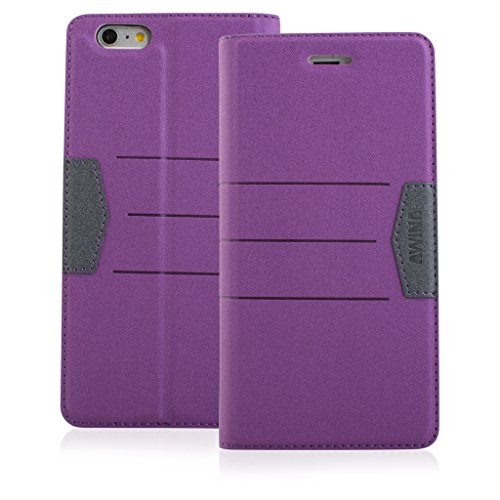 Good Quality Apple iphone 5 Case cover, Apple iPhone 5 Purple Designer Style Wallet Case Cover