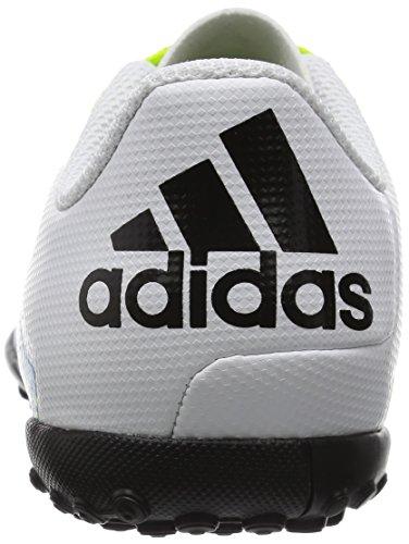 adidas Jungen X 15.4 Turf J Fußballschuhe, Weiß Weiß (Ftwr White/Semi Solar Slime/Core Black)