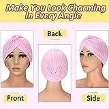 10 Pieces Stretch Polyester Turbans Head Bennie