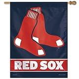 "MLB Boston Red Sox Logo/Year Established Vertical Flag, 27 x 37"""
