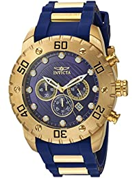 Men's 'Pro Diver' Quartz Stainless Steel and Polyurethane Casual Watch, Color:Blue (Model: 20280)