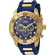 Men's 'Pro Diver' Quartz Stainless Steel and Polyurethane Casual Watch, Color:Blue (Model: 20280)