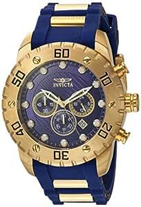 Invicta Men's Pro Diver Stainless Steel Quartz Watch with Polyurethane Strap, Blue, 25 (Model: 20280