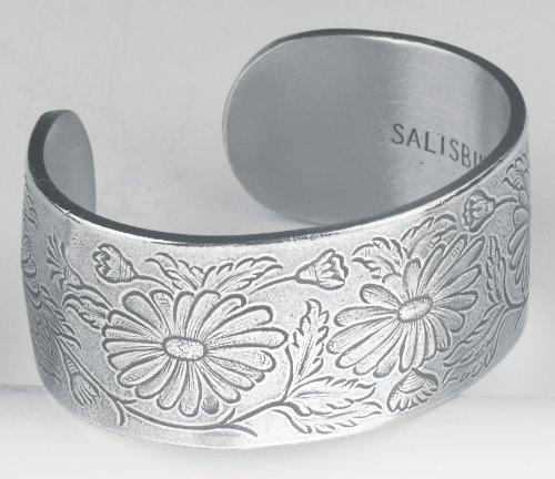 Pewter Flower of the Month Bracelet - Sep Month Pewter Bracelet