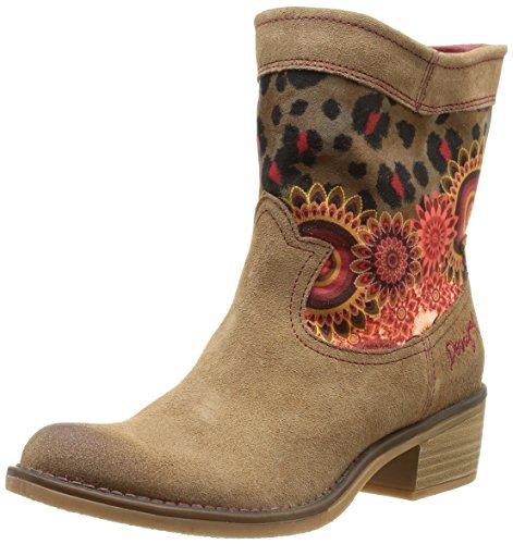 Marron femme Boot Desigual Topo Bottes western Campera Salvaje 6020 RYHWq6