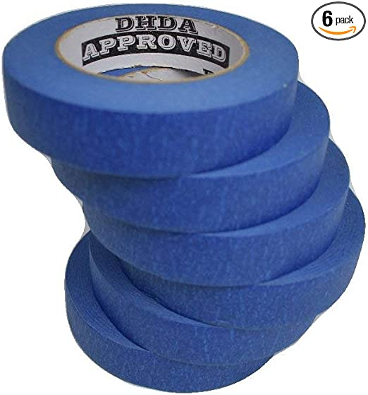 """6pk 1/"""" x 60 Yards - 360 Yards 6 Pack Professional Grade 1/"""" Blue Painters Tape"""