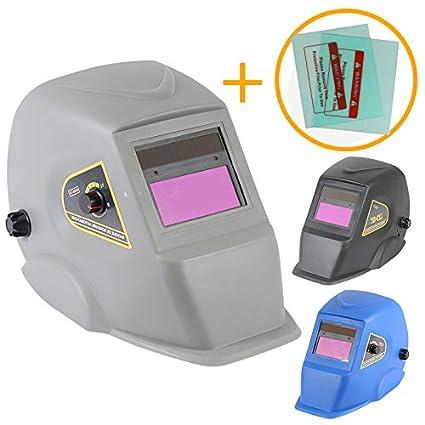 Linxor France ® Masque de soudure automatique 9 à 13 DIN + 2 Verres de protection - Trois coloris - Normes EN379 et EN175 EGK