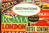 24 Pages of Travel Destinations Stickers World Popular Cities Vintage Images