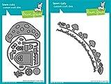Lawn Fawn - Mushroom House Dies and Mushroom Border Dies - 2 Item Bundle