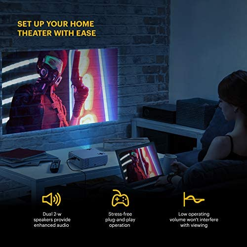 """KODAK FLIK X4 HOME PROJECTOR   4.0 LCD COMPACT HOME THEATER SYSTEM PROJECTS UP TO 150"""" WITH 1080P COMPATIBILITY & BRIGHT LUMEN LED LAMP   VGA/AV/HDMI/USB/TF INPUTS   REMOTE, TRIPOD & CARRY CASE"""