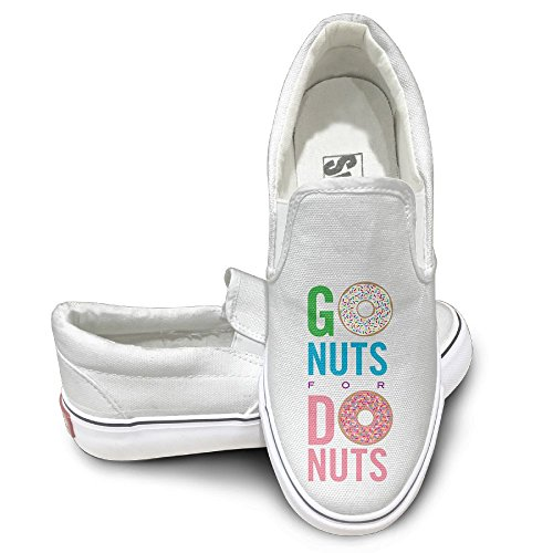 SH-rong Go Nuts For Donuts Unisex Canvas Sneakers Shoes Size 42 White (Luce Sunglasses)
