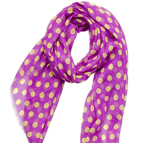Tickled Pink Women's Game Day Sports Team Apparel Scarf or Wrap, Purple/Gold, 36 x 70