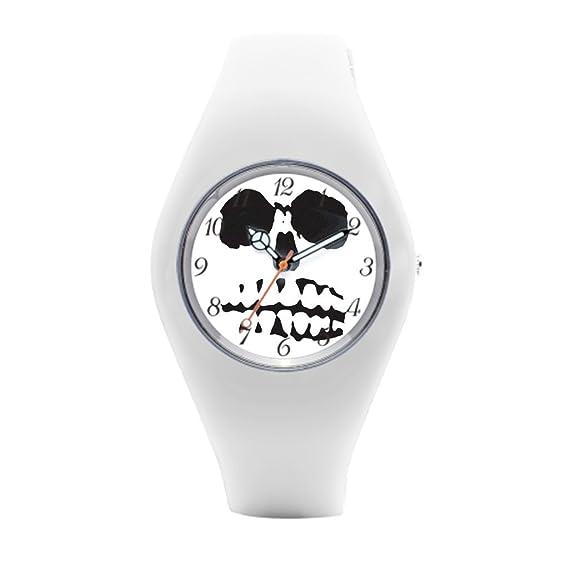 Calavera silicona relojes Cool para mujer relojes deportivos: Amazon.es: Relojes