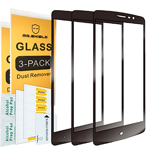 [3-PACK]-Mr Shield For ZTE MAX XL [Japan Tempered Glass] [9H Hardness]  [Full Cover] Screen Protector with Lifetime Replacement Warranty