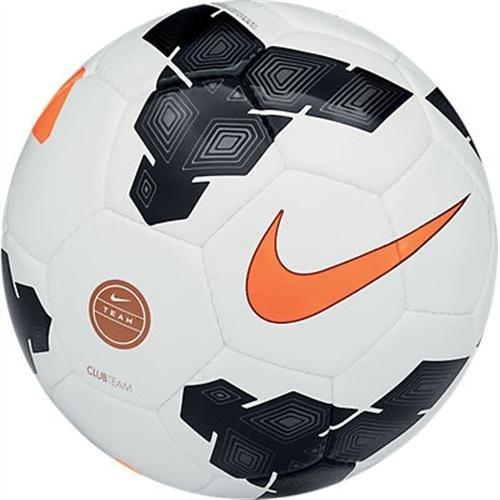 Nike Club Team Fussball, White/Black/Total Orange, 5, SC2283-107