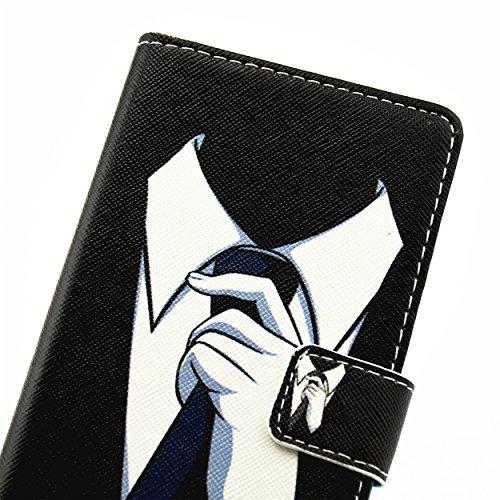 ikasus - Bolso pequeño al hombro para mujer Black White Shirt Tie Black White Shirt Tie