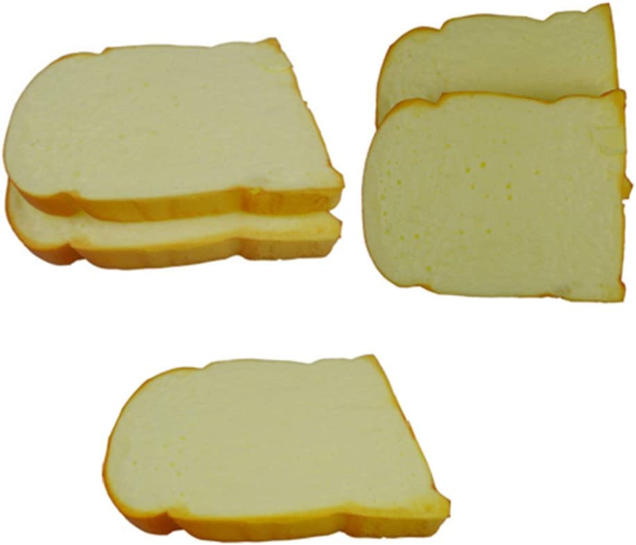 Skyseen 5 PCS Fake Cake Artificial Toast Bread Food Model Decoration Kitchen Toys Prop