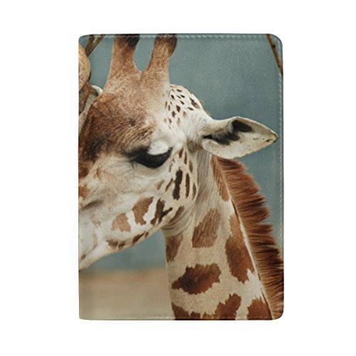Africa Wild Giraffe Leather Passport Holder Cover Travel Card Carrier Case by My Little Nest