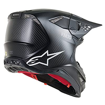 Alpinestars Supertech S-M10 Solid Off-Road Motocross Helmet (Large, Carbon Black): Automotive