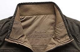 Men\'s Durable Reversible Outdoor Vests Army Green / Khaki 3XL (Tag)
