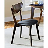 Coaster 105362 Home Furnishings Side Chair (Set of 2), Dark Walnut