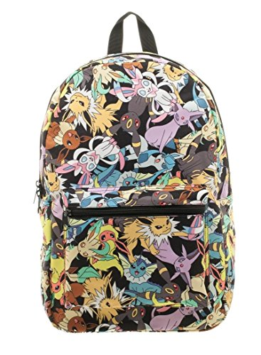 Nintendo Pokemon Go Eevee Evolution Licensed Backpack School Book Bag Toss (Eevee Evolution Costumes)
