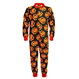 Manchester United FC Official Gift Boys Kids Pyjama Onesie Black 9-10 Years
