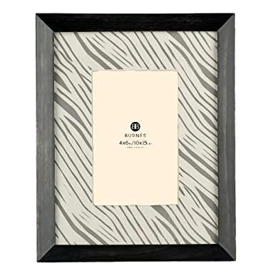 Burnes of Boston 545446 Rwanda Zebra Picture Frame, Matted, 4-Inch by 6-Inch