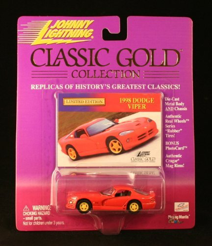 (1998 DODGE VIPER * RED * Johnny Lightning 2000 CLASSIC GOLD COLLECTION 1:64 Scale Die-Cast Vehicle)