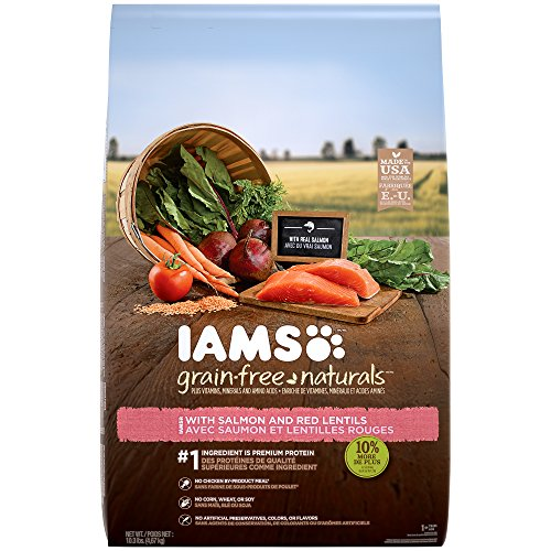 Iams Grain-Free Naturals Adult With Salmon And Red Lentils Recipe Dry Dog Food 10.3 Pounds (Discontinued By...