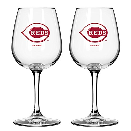 MLB Cincinnati Reds Game Day Wine Glass, 12-ounce, 2-Pack