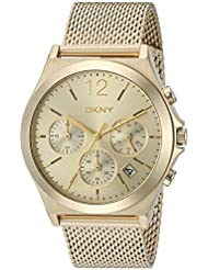 DKNY Womens Parsons Quartz Stainless Steel Casual Watch, Color:Gold-Toned (Model: NY2485)
