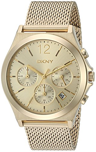 DKNY Women's 'Parsons' Quartz Stainless Steel Casual Watch, Color Gold-Toned (Model: NY2485)