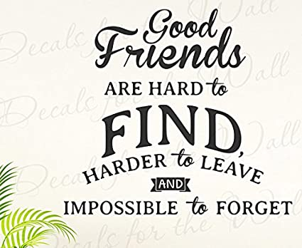 good friends are hard to find impossible to forget