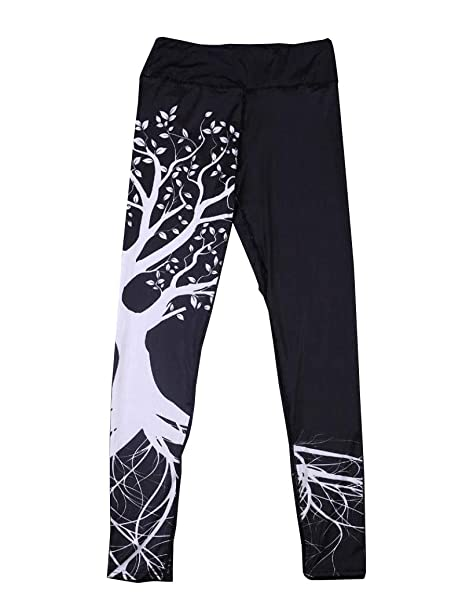 7e3a0f7c6860f4 Yoga Hosen Damen, DoraMe Frauen Fitness Bewegung Athletischen Hosen  Training Tree Drucken Yoga Leggings (