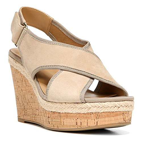 Womens Platform Wedge Sandals Soft Tan 7.5 ()