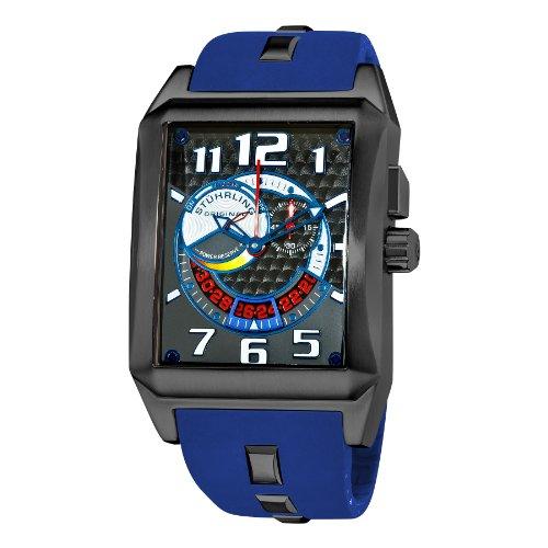 Stuhrling Original Men's 255D.3356C52 Madman Complex Swiss Quartz Blue Watch