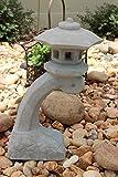 "Concrete Statue Pagoda Bow Lantern Oriental Lantern Japanese 17.5″ ""HT Review"