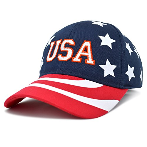 (DALIX USA Baseball Cap Flag Hat Team US Navy America Stars and Stripes)