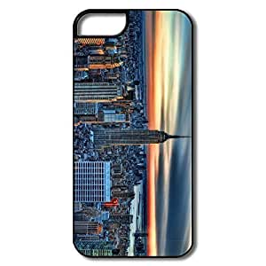 IPhone 5S Case, Empire State Building HDR White/black Cases For IPhone 5/5S