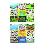 Melissa & Doug Reusable Sticker Pads Set: Vehicles and Habitats, 315+ Stickers and 10 Scenes