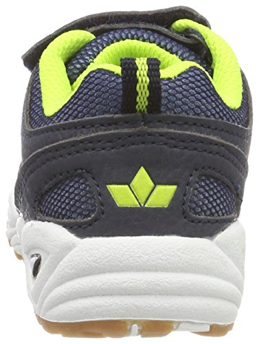 GEKA Charly Vs, Zapatillas de Deporte Interior Para Niños Azul (Marine/blau/lemon Marine/blau/lemon)