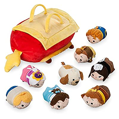 Disney Beauty and the Beast ''Tsum Tsum'' Plush Set - Small Tote - 10 Inch - Plus 8 Minis - 3 1/2 Inch