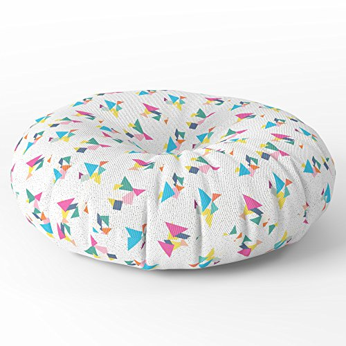 Tangram Floor (Society6 Deconstructed Tangrams Floor Pillow Round 30