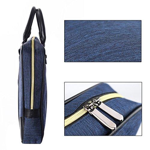Maletin Portatil,Coofit Maletin para Ordenador Portatil Bolso Bandolera Bolso Mensajero con Correa de Hombro Negro Azul Coofit