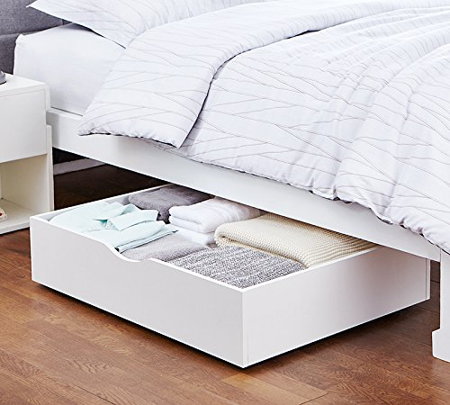 DormCo The Storage MAX - Underbed Wooden Organizer With Wheels - White